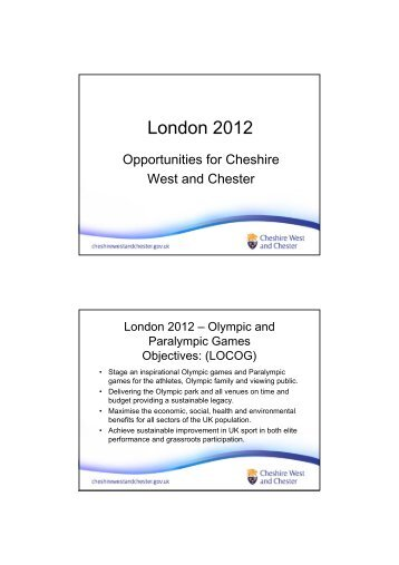 London 2012 - West Cheshire Together