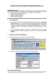 INSTRUCTIVO RUBEN - Registro Beneficiarios PVL - Sistema de ...