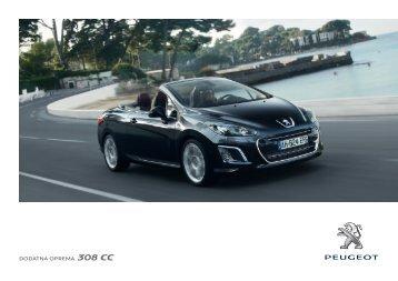 DODATNA OPREMA 308 CC - Peugeot