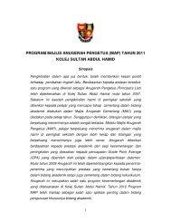Majlis Anugerah Pengetua - Jabatan Pelajaran Negeri Kedah