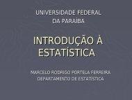 Conceitos Básicos/Apresentação de Dados - Departamento de ...