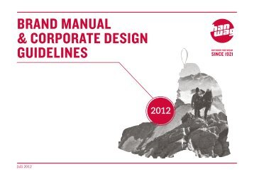 Brand Manual & Corporate design guidelines - Hanwag