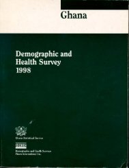 Ghana Demographic and Health Survey 1998 - Measure DHS