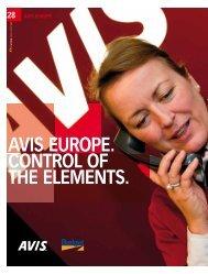 avis europe. control of the elements. - D'Ieteren Annual Report 2010