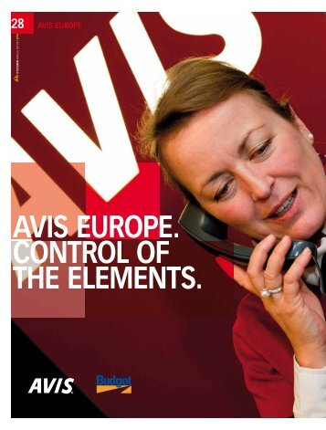 avis europe. control of the elements. - D'Ieteren Annual Report 2010