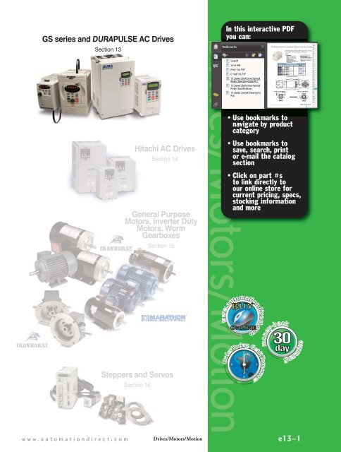 e13–1 GS series and DURAPULSE AC Drives     - Automationdirect
