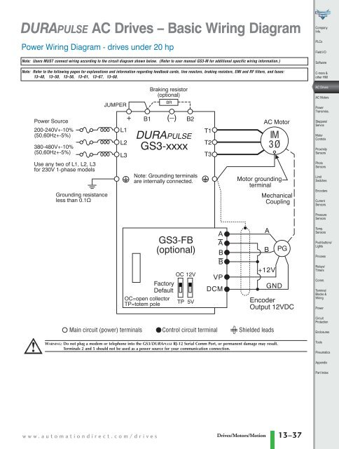 DURAPULSE Ac Drive Control Wiring Diagram on