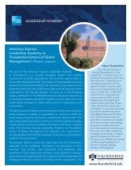 American Express Leadership Academy at Thunderbird School of ...