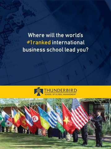 Where will the world's #1 ranked international business school lead ...
