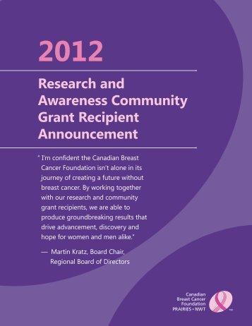 2012-13GrantAbstracts-final - University of Calgary