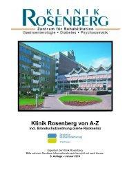 Klinik Rosenberg von AZ incl. Brandschutzordnung