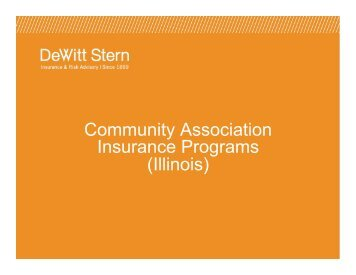 Community Association Insurance Programs (Illinois) - DeWitt Stern