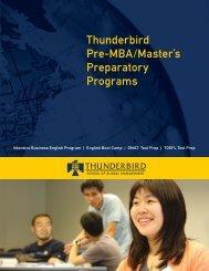Thunderbird Pre-MBA/Master's Preparatory Programs