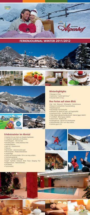 preise winter 2011/2012 - Hotel Ahrntaler Alpenhof