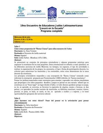 """""""Javurá en la Escuela"""" Programa completo - Bama"""