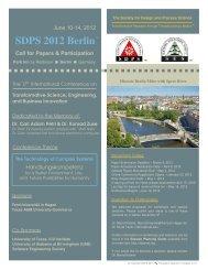 SDPS 2012 Berlin