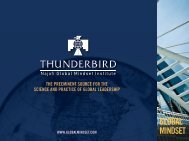 GLOBAL MINDSET - Thunderbird School of Global Management