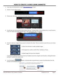 HOW TO CREATE A VIDEO USING ANIMOTO - marymac