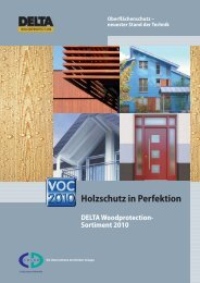 Holzschutz in Perfektion - CD-Color GmbH & Co.KG