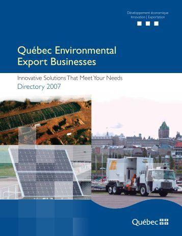 Québec Environmental Export Businesses - Bibliothèque