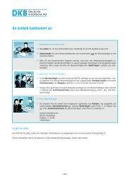 Hinweise zum Vollmachtsformular - DKB