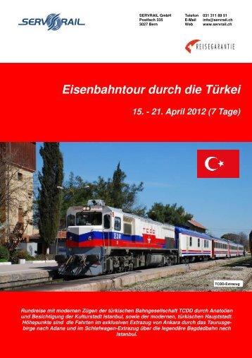 Eisenbahntour durch die Türkei 15. - 21. April 2012 (7 ... - SERVRail