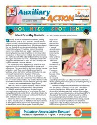 3rd Quarter 2013 Auxiliary Newsletter - SEhealth.org