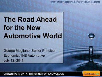The Road Ahead for the New Automotive World - Automotive Digest