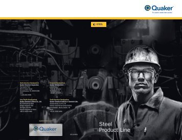 Steel Product Line - Quaker Chemical Corporation