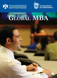 GLOBAL MBA - Thunderbird School of Global Management