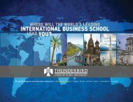 View in PDF format - Thunderbird School of Global Management