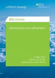 Lärmschutz im Luftverkehr - BDL
