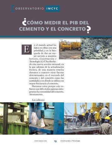 Cómo medir el PiB del Cemento y el ConCreto - Instituto Mexicano ...