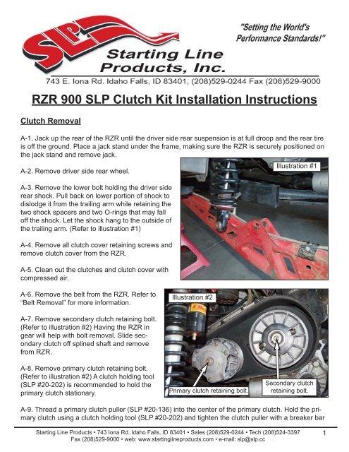 RZR 900 SLP Clutch Kit Installation Instructions - Starting Line