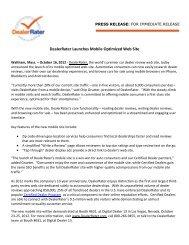 DealerRater Launches Mobile Optimized Web Site - Automotive Digest