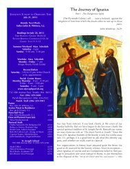July 21, 2013 Bulletin - St. Joseph Parish
