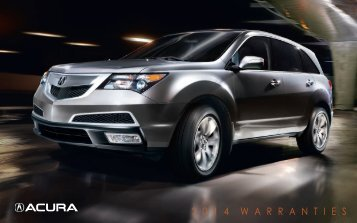 Warranty Booklet for 2014 MDX - Acura