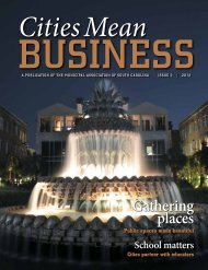 Cities Mean Business - Municipal Association of South Carolina