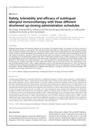 Safety, tolerability and efficacy of sublingual allergoid ...