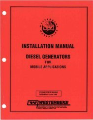 Installation Manual - Diesel Generators for Mobile ... - Westerbeke