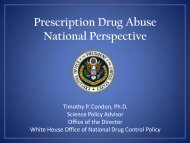 Prescription Drug Abuse National Perspective