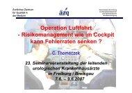 Operation Luftfahrt - Risikomanagement wie im ... - Urologenportal