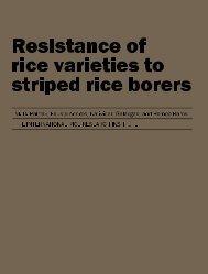 Resistance of Rice Varieties to Striped Rice Borers - IRRI books