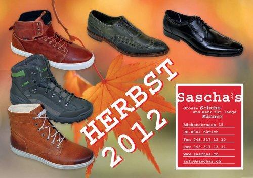 hot sale online 532c0 842d2 Sascha sGmbH - Grosse Schuhe und mehr für lange Männer