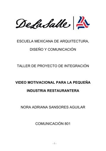 proyecto de integración - Facultad Mexicana de Arquitectura ...