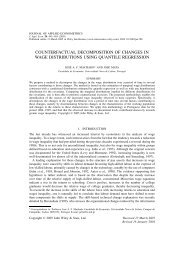 Counterfactual decomposition of changes in wage distributions ...