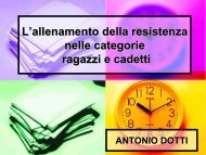 L'allenamento della resistenza nelle categorie r - Fidal Piemonte