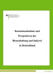 Bestandsaufnahme und Perspektiven der Bienenhaltung ... - BMELV