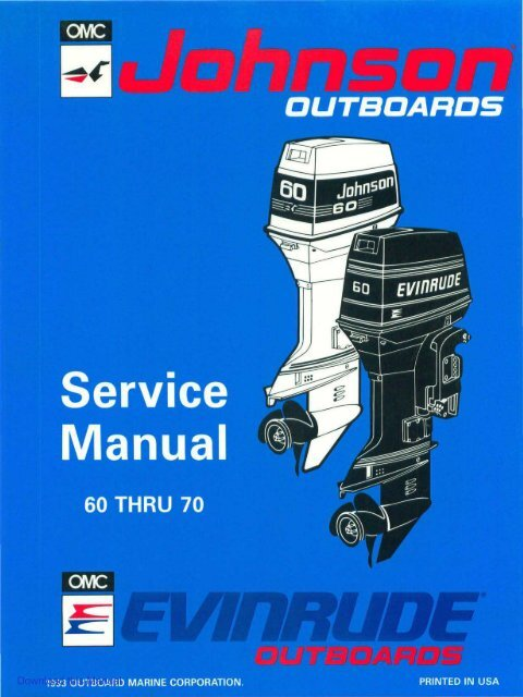 1971 1989 johnson evinrude outboard 1to 60 hp repair manual