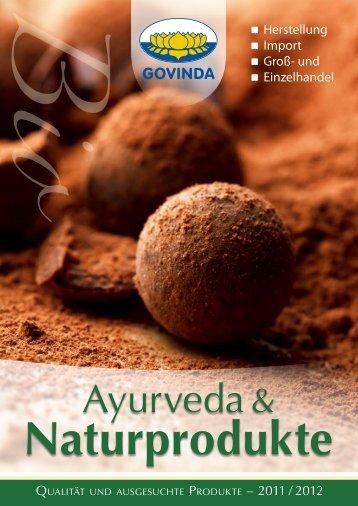 Alternativ können Sie sich unseren aktuellen ... - Govinda Natur GmbH
